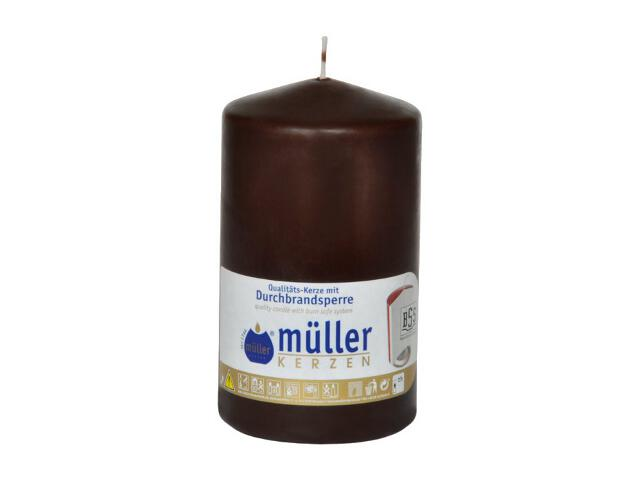 Świeca walec 130x75mm kolor schoko Muller