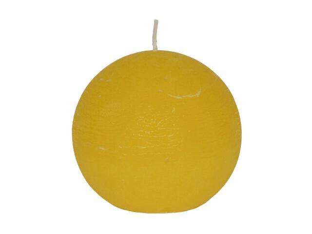 Świeca kula polarowa 136mm kolor żółty Muller