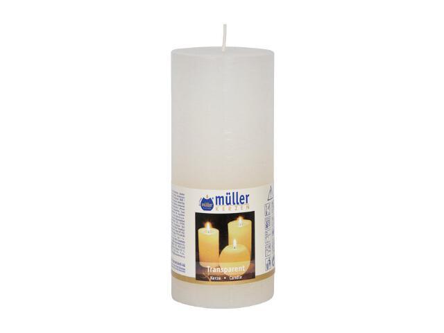 Świeca walec polarowy 160x68mm kolor biały Muller