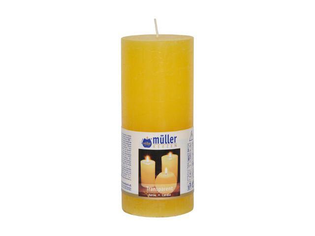 Świeca walec polarowy 160x68mm kolor żółty Muller