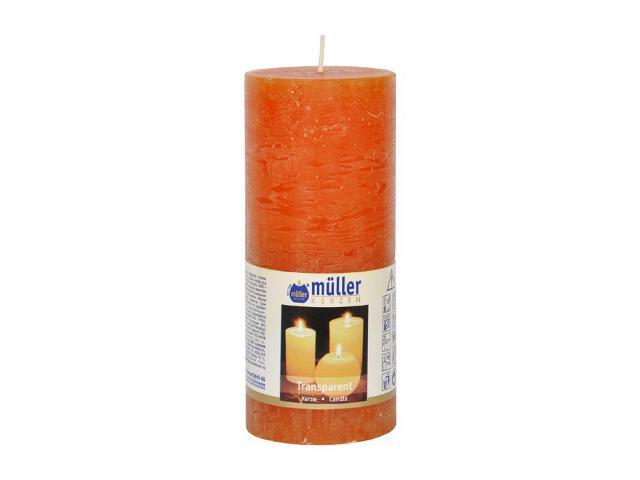 Świeca walec polarowy 160x68mm kolor mandarynka Muller