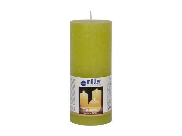 Świeca walec polarowy 160x68mm kolor majowa zieleń Muller