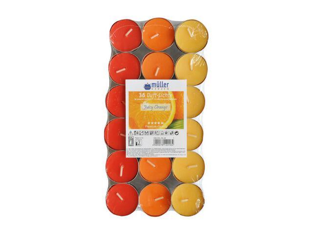 Podgrzewacze zapachowe 36szt sok pomarańczowy Muller