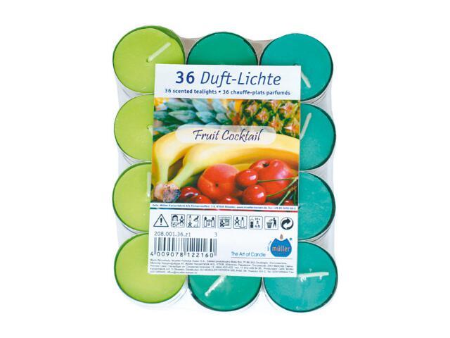 Podgrzewacze zapachowe 36szt owocowy koktail Muller