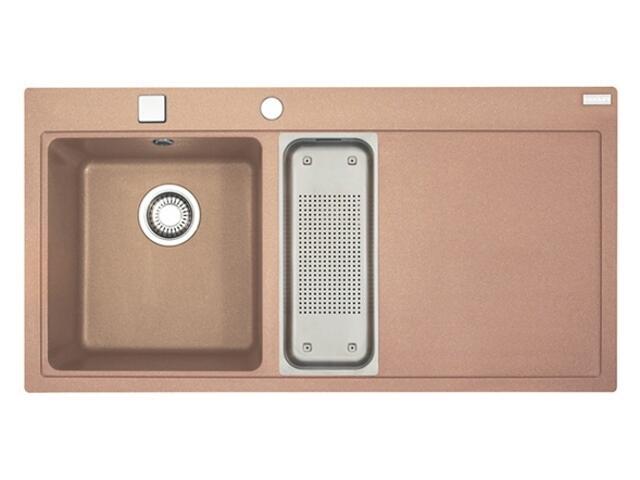 Zlewozmywak Mythos MTG 651-100 1000x515mm cynamonowy komora z lewej 114.0067.373 Franke