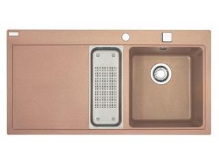 Zlewozmywak Mythos MTG 651-100 1000x515mm cynamonowy komora z prawej 114.0067.374 Franke