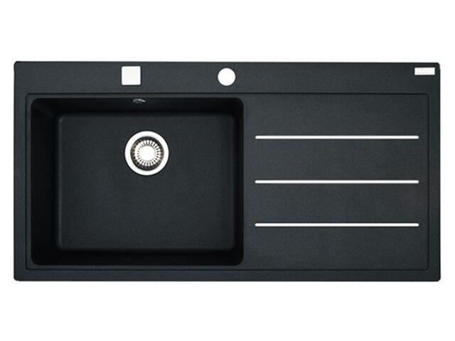 Zlewozmywak Mythos MTF 611 1000x515mm onyx komora z lewej 114.0166.995 Franke
