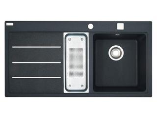 Zlewozmywak Mythos MTF 651 1000x515mm onyx komora z prawej 114.0167.689 Franke
