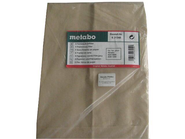 Filtr papierowy wstępny Metabo