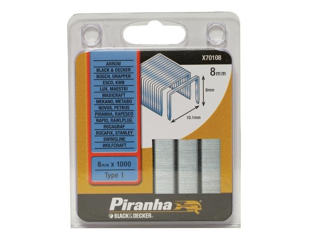 Zszywki 8mm TYP1 Piranha