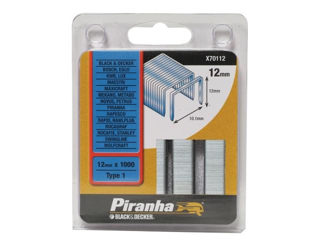 Zszywki 12mm TYP1 Piranha