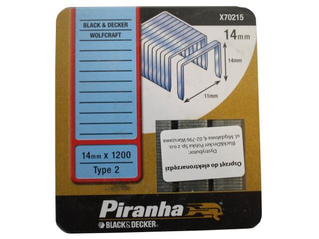 Zszywki 14mm TYP2 do zszywacza elektrycznego Piranha