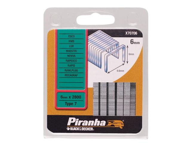 Zszywki 6mm TYP7 Piranha
