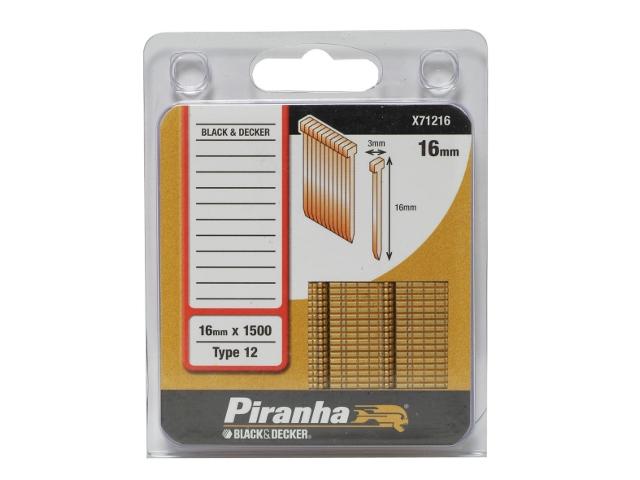 Zszywki 16mm TYP12 Piranha
