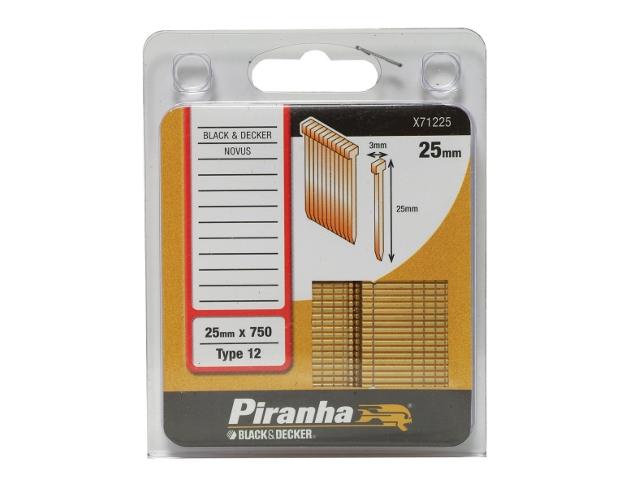 Zszywki 25mm TYP12 Piranha