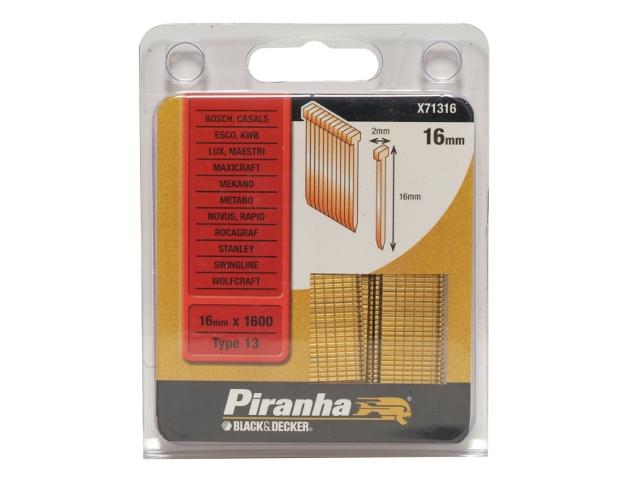 Zszywki 16mm TYP13 Piranha
