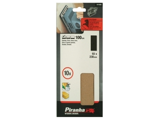 Arkusze ścierne 93x230mm P100 10szt. X31065 Piranha