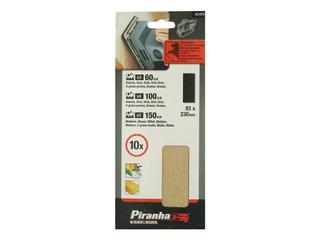Arkusze ścierne 93x230mm 10szt. X31075 różne Piranha