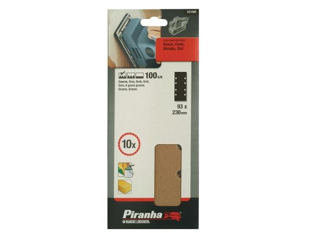 Arkusze ścierne 93x230mm P100 10szt. X31085 Piranha