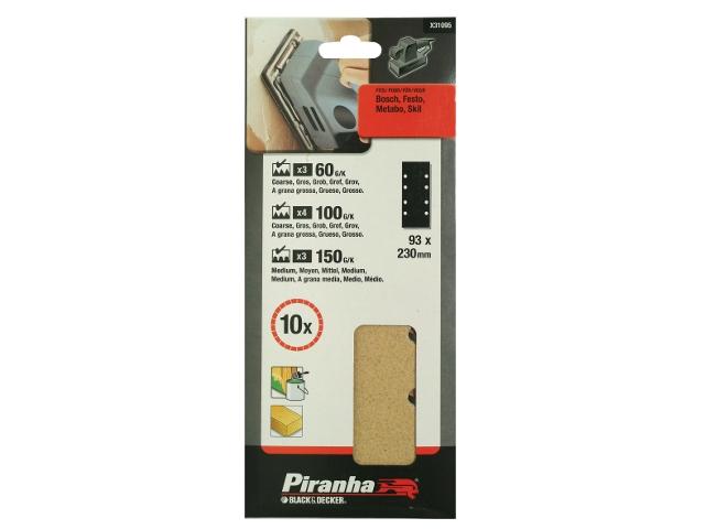Arkusze ścierne 93x230mm 10szt. X31095 różne Piranha