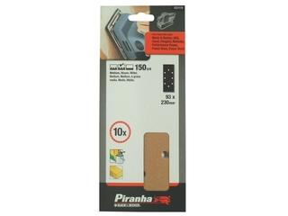 Arkusze ścierne 93x230mm P150 10szt. X31110 Piranha