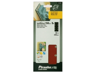 Arkusze ścierne 93x230mm P150 5szt. X31136 Piranha