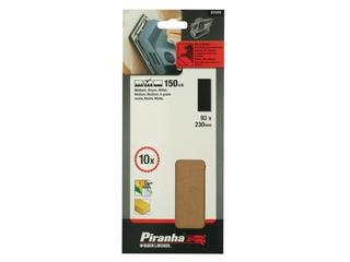 Arkusze ścierne 93x230mm P150 10szt. X31070 Piranha