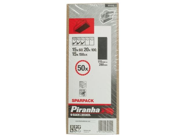 Arkusze ścierne 115x280mm 50szt. różne Piranha