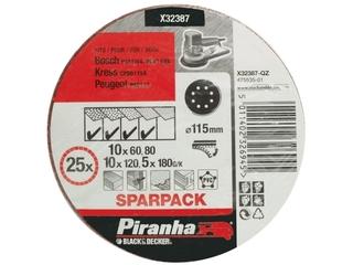 Krążki ścierne na rzep 115mm 25szt. różne Piranha