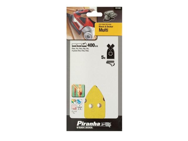 Papier ścierny na rzep P400 5szt. Piranha