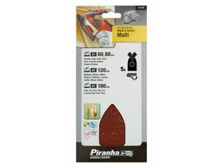 Papier ścierny na rzep 5szt. X31467 różne Piranha