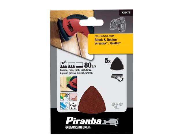 Papier ścierny P80 5szt. X31477 Piranha