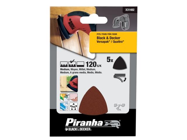 Papier ścierny Delta P120 5szt. X31482 Piranha