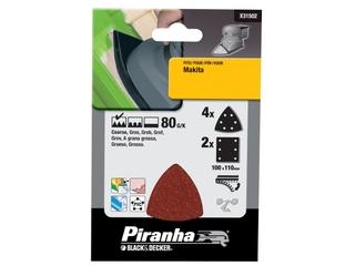 Papier ścierny P80 6szt. Piranha