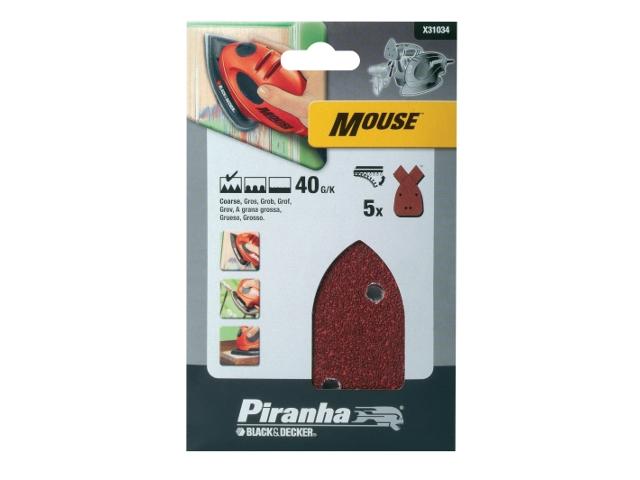 Papier ścierny P40 5szt. X31034 Piranha