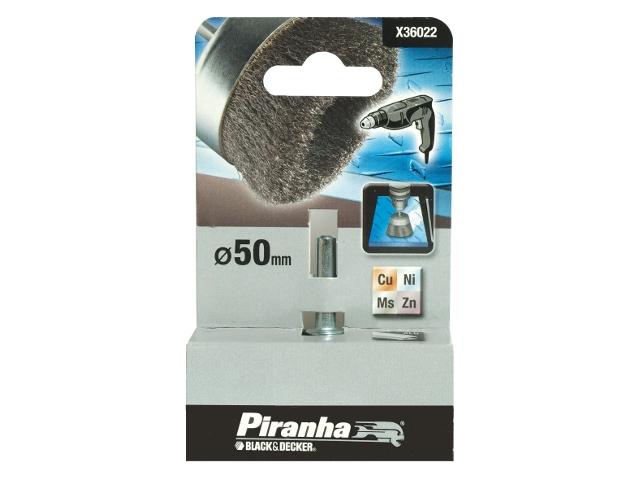 Szczotka druciana garnkowa 50x6 X36022 Piranha