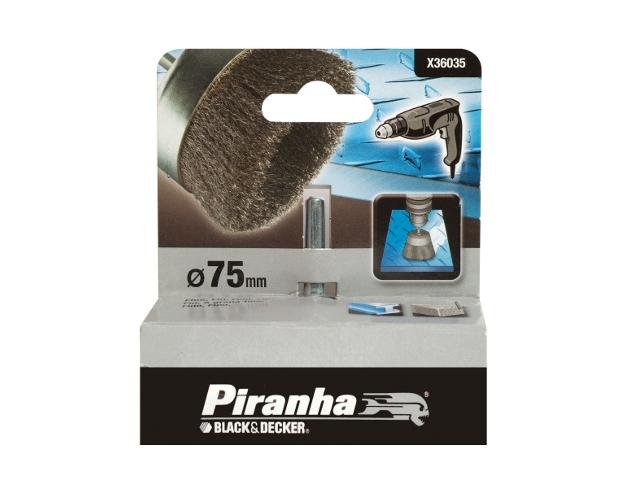 Szczotka druciana garnkowa 75x6 do obróbki wykańczającej Piranha