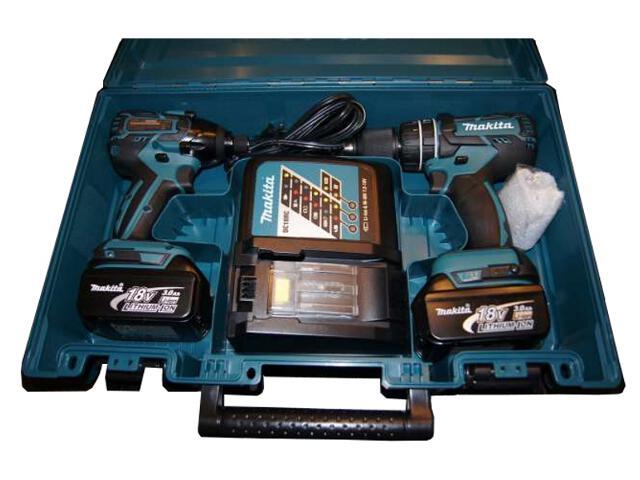 Zestaw elektronarzędzi DDF459RFE + DTD129RFE + 2 akumulatory 18V Makita