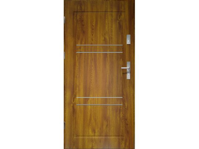 Drzwi zewnętrzne PRIME 55 Apollo V2 pełne złoty dąb 90 lewe O.K. Doors
