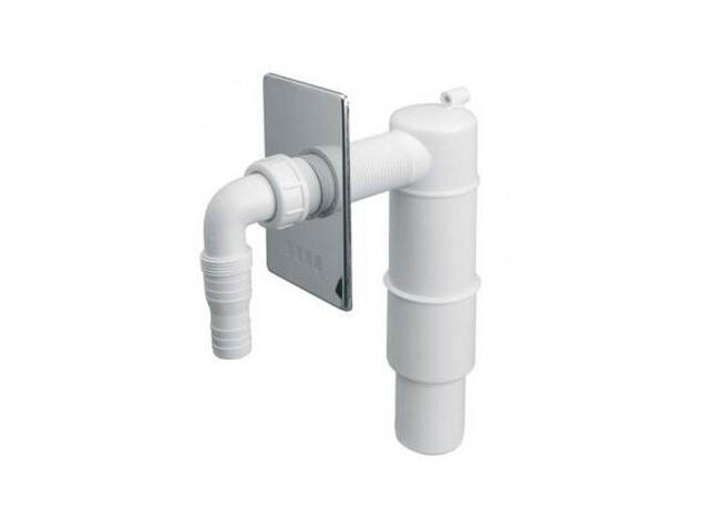Podłączenie do pralki/zmywarki podt. z odejściem 50mm mask. chrom (HCWM50V) McAlpine