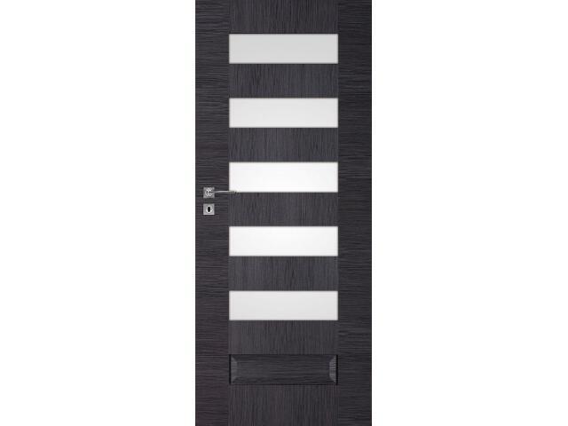 Drzwi okleinowane Scala B5 dąb szary ryfla 80 lewe wkładka patentowa DRE