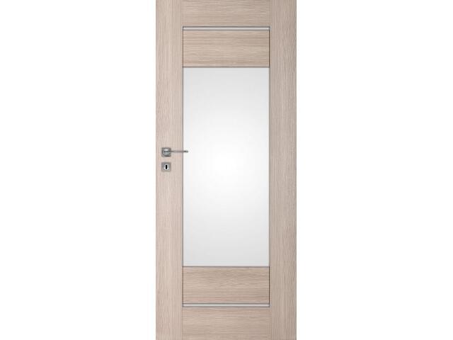 Drzwi okleinowane Premium 3 dąb bielony ryfla 80 lewe wkładka patentowa DRE