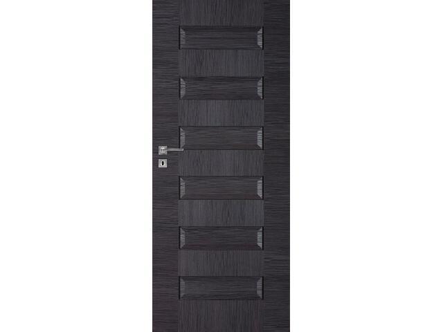 Drzwi okleinowane Scala B dąb szary ryfla 80 lewe zamek oszczędnościowy DRE
