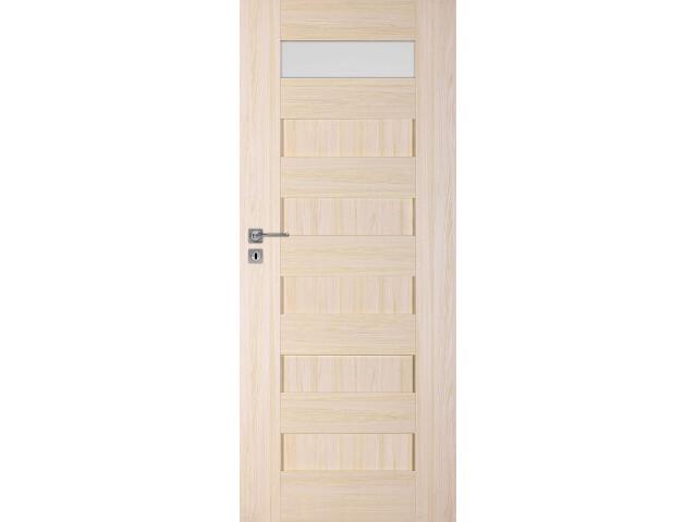 Drzwi okleinowane Scala A1 jesion 80 lewe zamek na klucz zwykły DRE