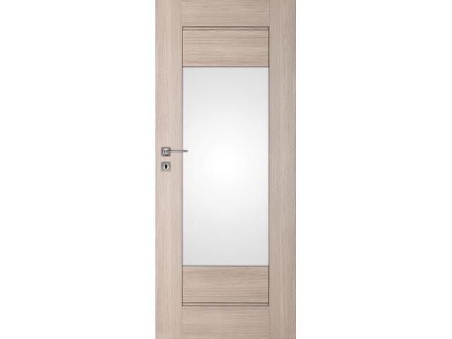Drzwi okleinowane Premium 7 dąb bielony ryfla 80 prawe zamek na klucz zwykły DRE