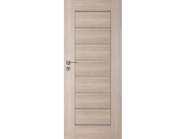 Drzwi okleinowane Premium 8 dąb bielony ryfla 80 lewe wkładka patentowa DRE