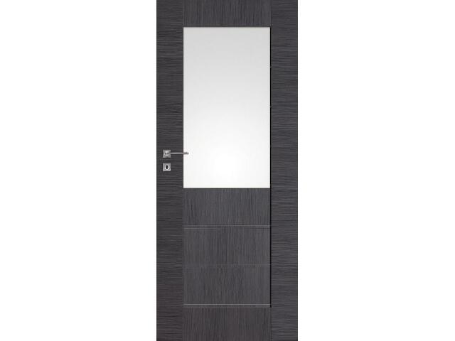 Drzwi okleinowane Premium 6 dąb szary ryfla 80 lewe zamek na klucz zwykły DRE