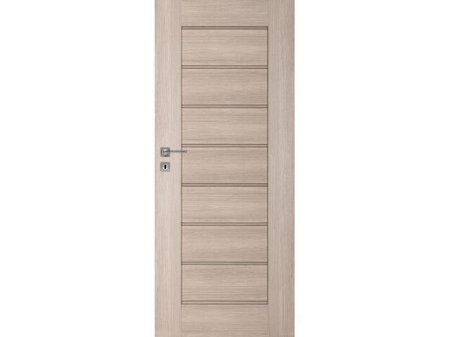 Drzwi okleinowane Premium 4 dąb bielony ryfla 80 lewe wkładka patentowa DRE