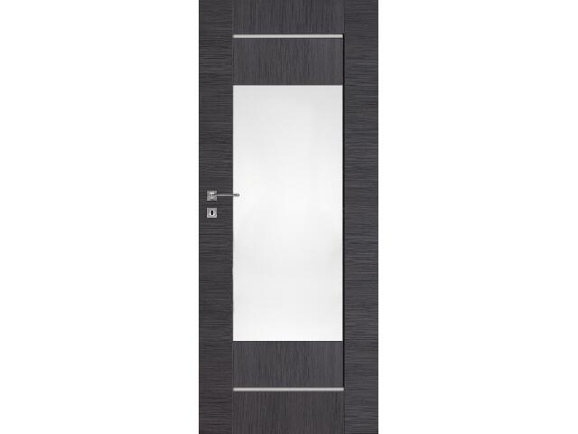 Drzwi okleinowane Premium 11 dąb szary ryfla 80 prawe zamek na klucz zwykły DRE