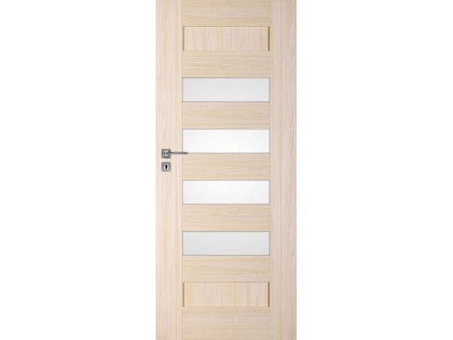 Drzwi okleinowane Scala A7 jesion 80 lewe zamek na klucz zwykły DRE